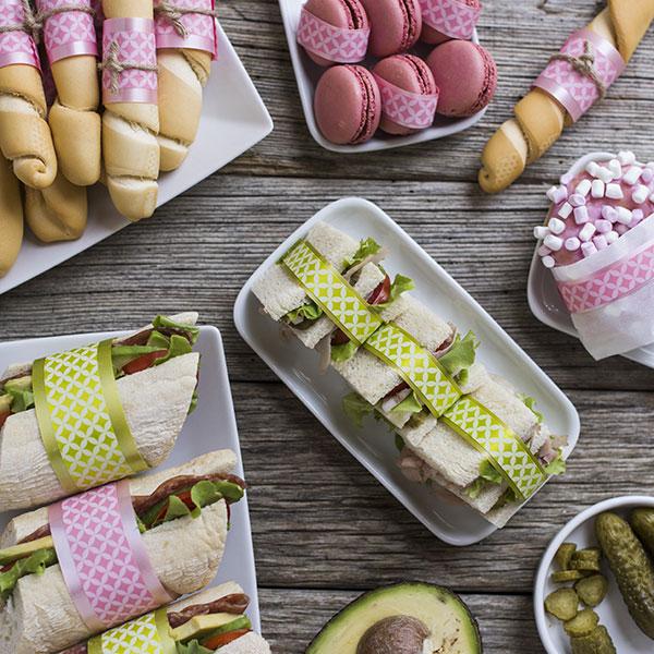 Panini e tramezzini idee per una festa d'estate Green & Glam