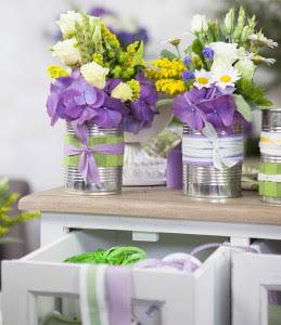 centrotavola barattoli fiori
