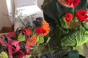 Verze e fiori in tavola